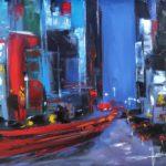Tard dans la Nuit Huile sur toile 65 x 54 cm