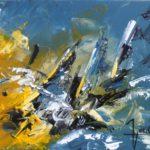 La Proue Huile sur toile 116 x 89 cm