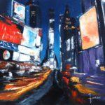 Times Square Huile sur toile 80 x 80 cm