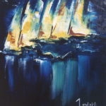 Tour du Monde en Equipage Huile sur toile 41 x 33 cm