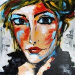 Un Regard Acrylique sur toile 80 x 80 cm