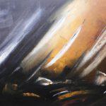 Un Tour du Monde Huile sur toile 80 x 40 cm