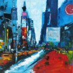 Un jour Times Square Acrylique sur toile 80 x 80 cm