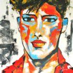 Visage Chromatique Acrylique sur toile 80 x 80 cm