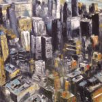 Vue de l'Empire State Bulding Huile sur toile 81 x 65 cm